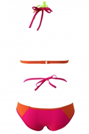 Multiple Color Block Wrapped 2pcs Bikini Swimsuit