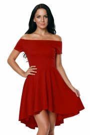 Hot Red All The Rage Skater Dress