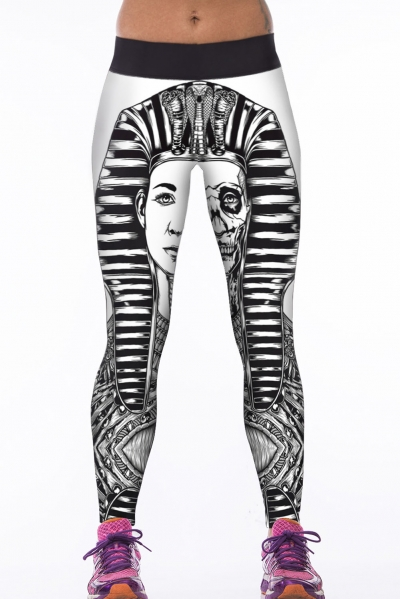 Sexy Digital Print Sports Yoga Punk Cult Stretchy Leggings