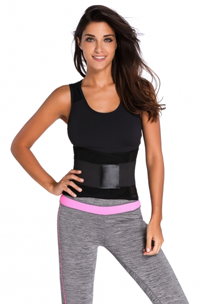 Black Power Belt Fitness Waist Trainer