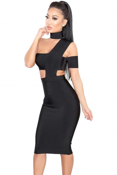 Sexy Choker Neck Cut out Bandage Party Dress
