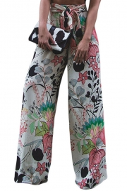Pink Black Graphic Print Palazzo Pants
