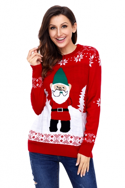 Red Santa Clause Holiday Sweater