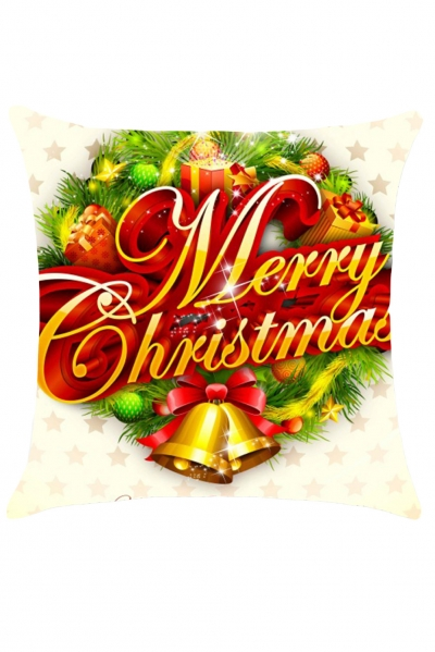 Merry Christmas Garland Throw Pillow Case