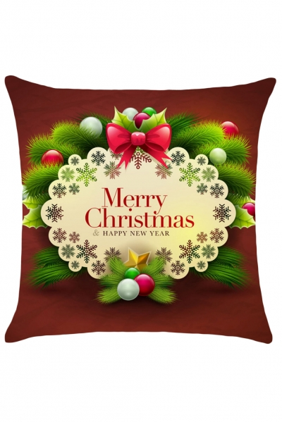 Merry Christmas&Happy New Year Cushion Pillowcase