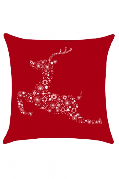 Christmas Starry Reindeer Print Pillow Case