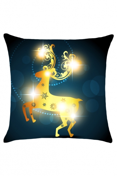 Christmas Elk Pattern Throw Pillow Cover