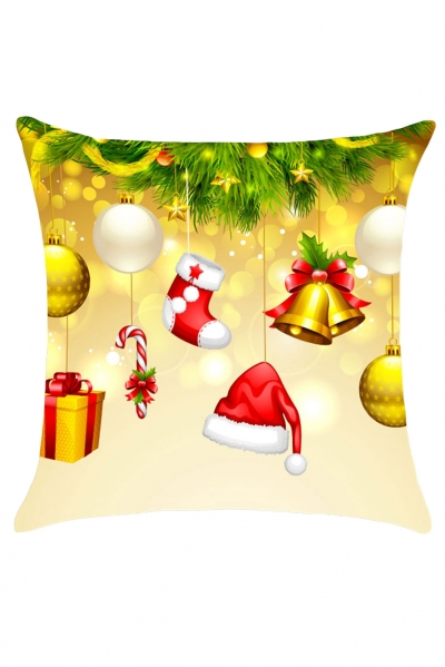 Christmas Tree Decorations Printed Throw Pillow Case