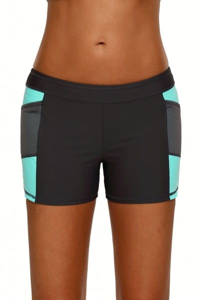Mint Side Mesh Insert Sports Boardshort