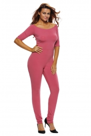 Rosy Bardot Neckline Fashion Jumpsuit
