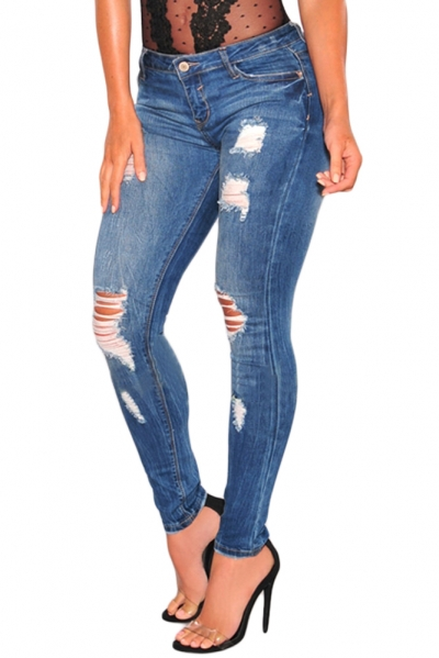 Denim Ripped Skinny Jeans